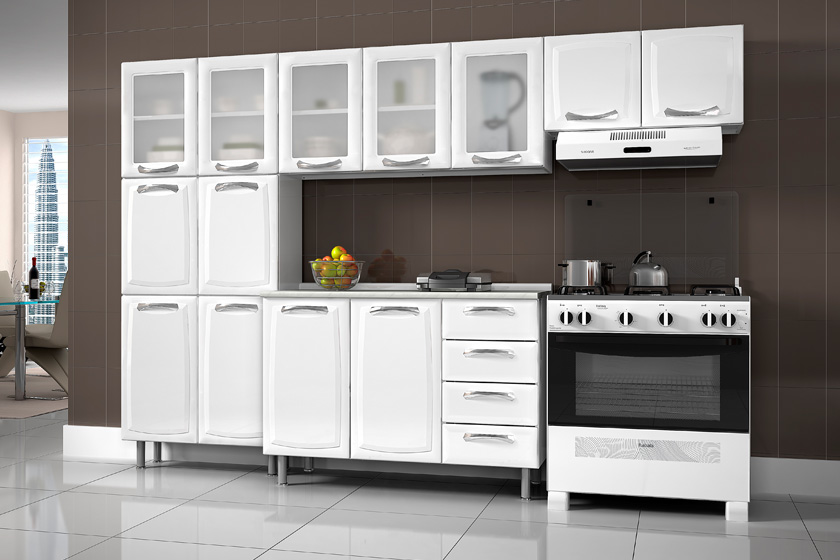 Ver Fotos De Armário De Cozinha : Wibamp armario de cozinha itatiaia aco casas bahia