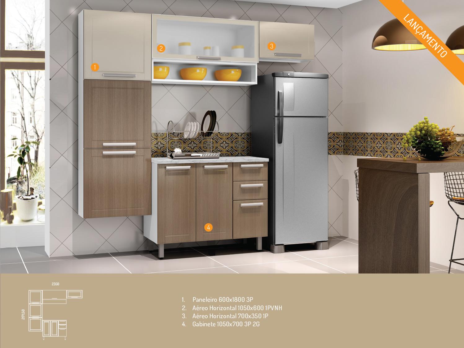 Armario Em Aco Ricardo Eletro : Wibamp kit armario de cozinha ricardo eletro